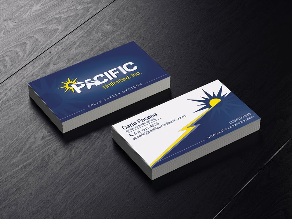 Pacific Unlimited Business Card Design   Eugene, Or