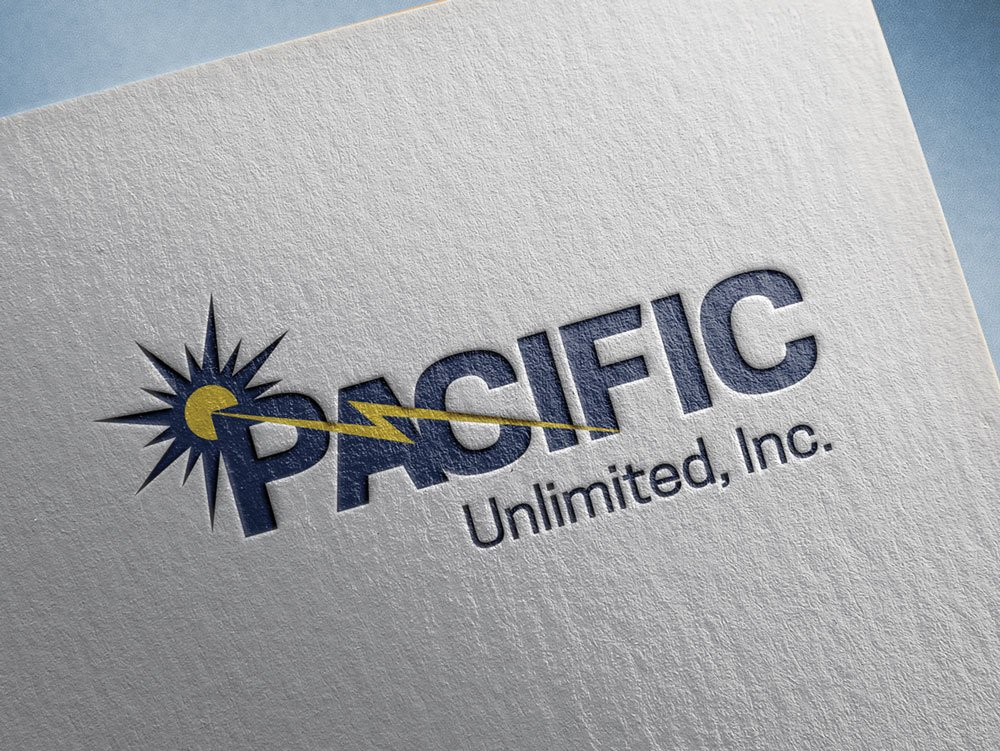 Pacific Unlimited Logo Mock Up   Eugene, Or
