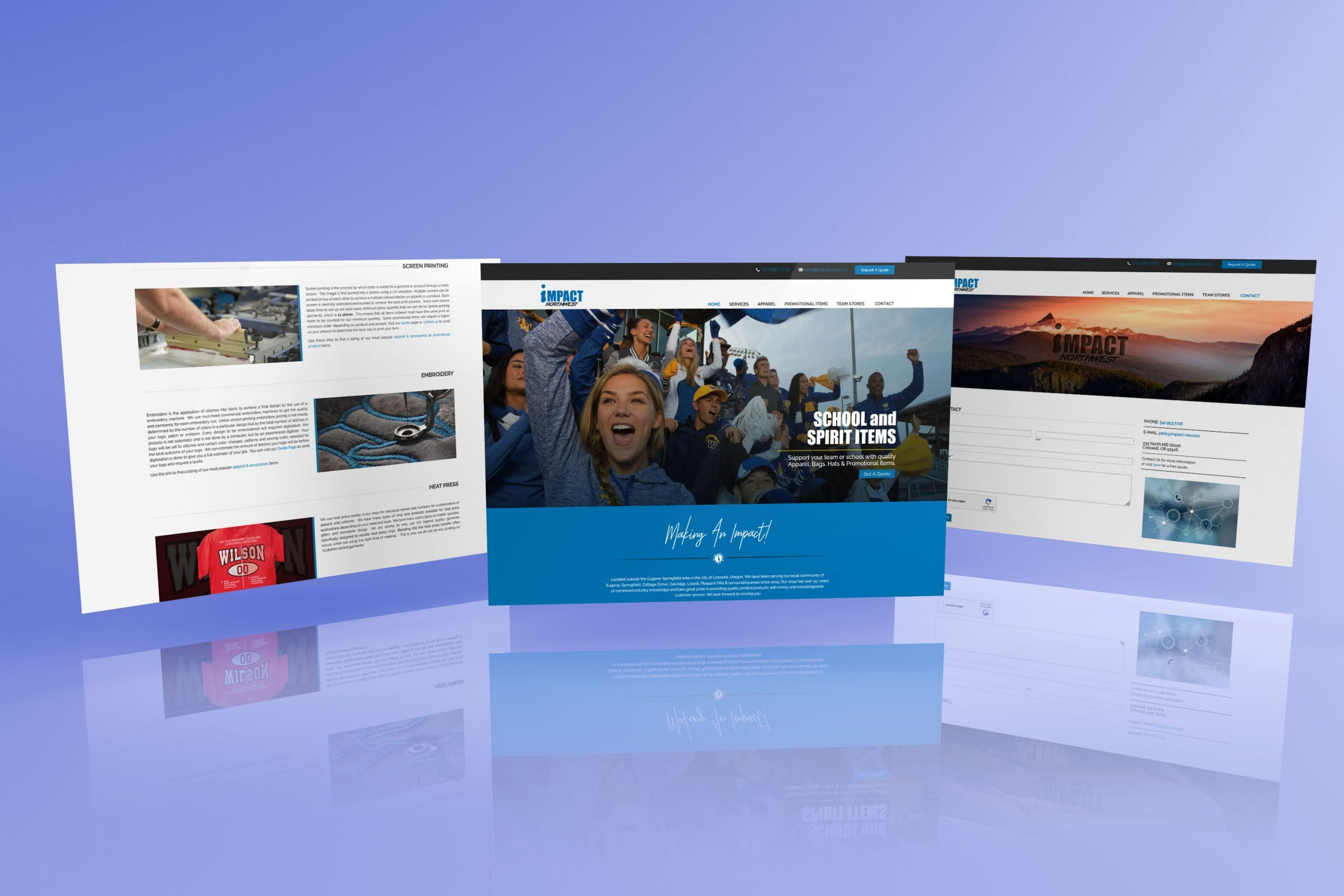 Impact Northwest Website Design   Creswell Or